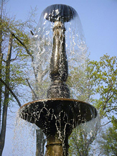 photo: fountain – peacock island, berlin